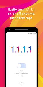 screenshot of 1.1.1.1: Faster & Safer Internet version 1.1.0