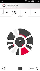 screenshot of 7Metronome: Pro Metronome version 1.1.4