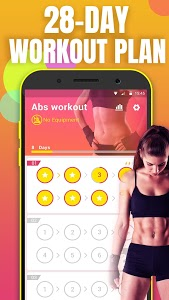 screenshot of Abs Workout - lose belly fat & build ab in 28 day version 1.3.4
