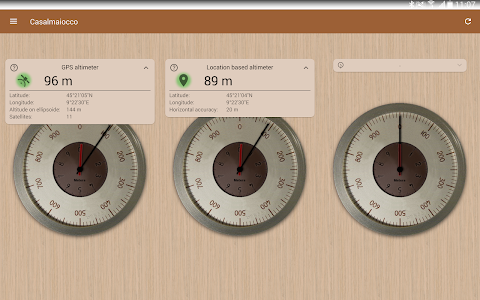 screenshot of Accurate Altimeter version Varies with device