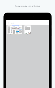 screenshot of Adobe Scan: PDF Scanner, OCR version 18.09.19