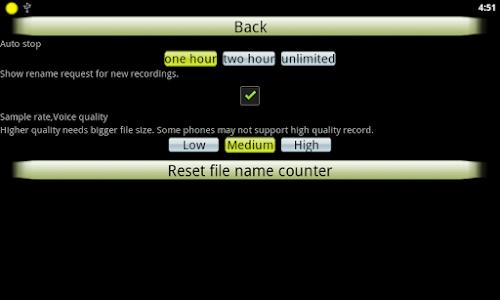 screenshot of Audio Recorder version 1.13