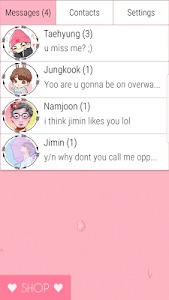 screenshot of BTS Messenger version 3.4