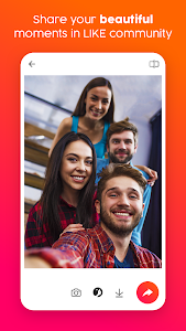 screenshot of PlusMe – Share your lives with beauty camera! version 1.4.4.2