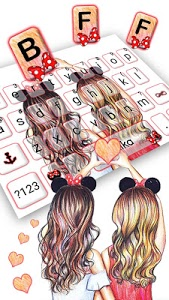 Download Best Friend Forever Keyboard Theme 1.0 APK