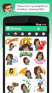screenshot of Bitmoji - Your Avatar Emoji version 2.33.26