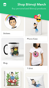 screenshot of Bitmoji – Your Personal Emoji version Varies with device