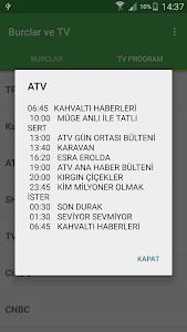screenshot of Canlı TV Mobil Günlük Burçlar version 1.6.5