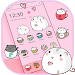 Cute Cup Cat Theme Kitty Wallpaper & icon pack