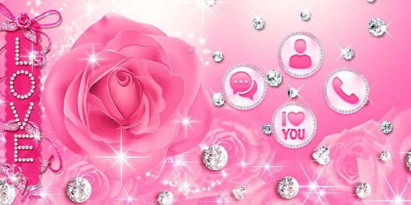 Download Diamond Pink Rose Theme 1.1.9 APK