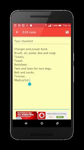 screenshot of Easy Note version 2.1