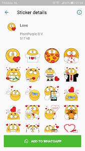 screenshot of Emojidom Stickers for WhatsApp (WAStickerApps) version 1.5