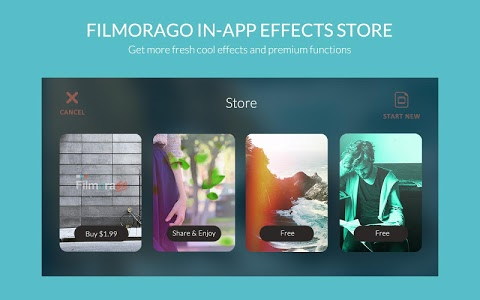 screenshot of FilmoraGo - Free Video Editor version 2.7.0
