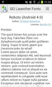 Download GO Launcher Fonts 3.6.1 APK