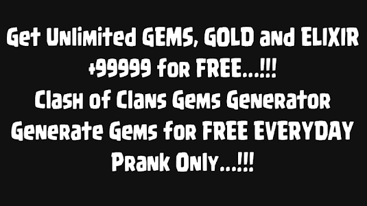 Download Gems for Clash of Clans Prank! 1.3 APK