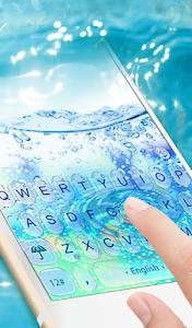 screenshot of 3D Blue Glass Water Keyboard Theme version 6.8.17.2018