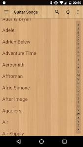 screenshot of Guitar Songs version 7.1.0 vint