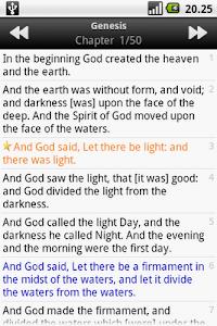 screenshot of Holy Bible (KJV) version 1.5