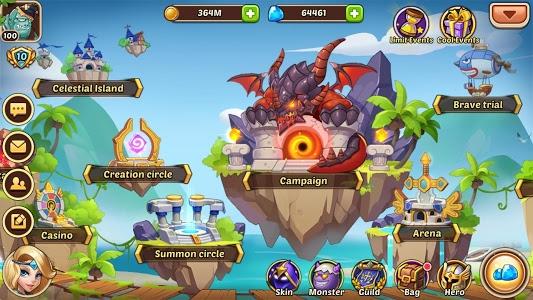 screenshot of Idle Heroes version 1.17.0.p1