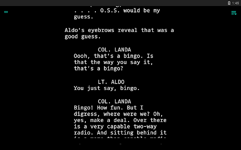 screenshot of JotterPad - Writer, Screenplay, Novel version 12.5.4-pi