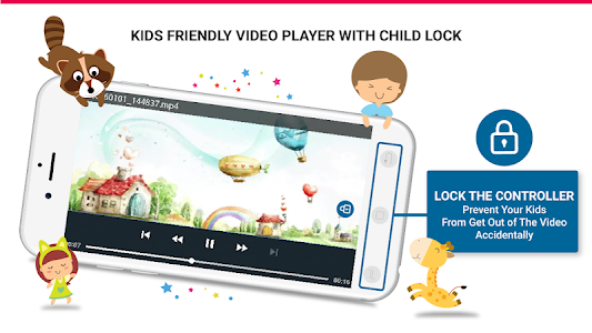 screenshot of Kids Safe Video Player - YouTube Parental Controls version Varies with device