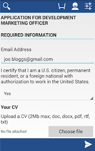 screenshot of Local Job Search version 1.3.80427.1100