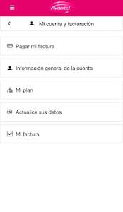 screenshot of Mi Avantel Móvil version 10.72.08