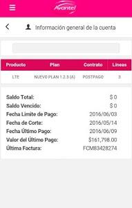 screenshot of Mi Avantel Móvil version 1.6.71