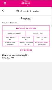 screenshot of Mi Avantel Móvil version 1.6.800