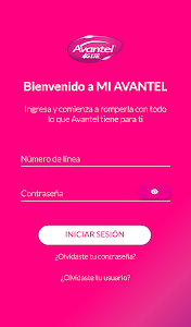 screenshot of Mi Avantel Móvil version 20.0.6