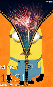 screenshot of Minion Zipper Lock Screen version 1.0
