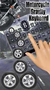 screenshot of Motorcycle Gravity Keyboard Theme version 10001002