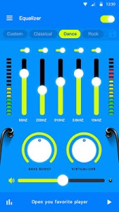 screenshot of Music Equalizer - Bass Booster & Volume Booster version 1.3.2