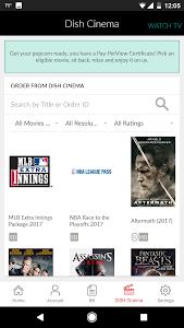 screenshot of MyDISH version 2.7.12