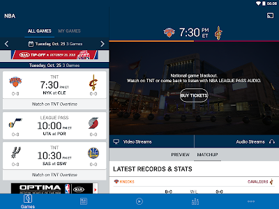 screenshot of NBA version 2016.4.3