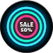 Download Neon Glow C - Icon Pack 4.9.0 APK