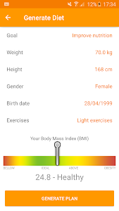 Download Technutri - calorie counter, diet and carb tracker 3.21.3 APK