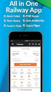 screenshot of PNR Status, Train Running Status & Ticket Booking version 8.8.3.0