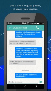screenshot of Phoner 2nd Phone Number + Anonymous Text & Call version 3.4