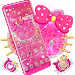 Download Lovely Pink Kitty Diamond Glitter Bowknot Theme 1.1.2 APK