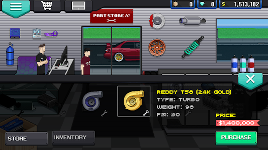 screenshot of Pixel Car Racer version 1.0.67