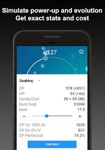 screenshot of Poke Genie - Safe IV Calculator version 3.3.3