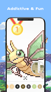 screenshot of Pokees - Color by Number version 3.0