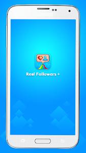 screenshot of Real Followers + version 1.0.1