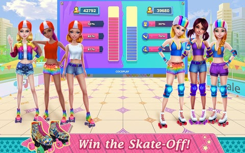 screenshot of Roller Skating Girls - Dance on Wheels version 1.0.3