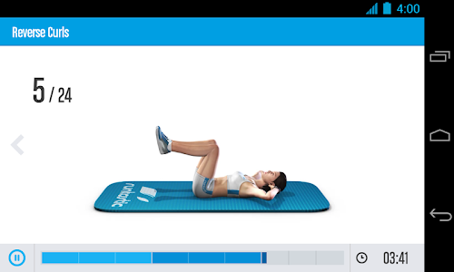 screenshot of Runtastic Six Pack Abs Workout & AbTrainer version 1.8