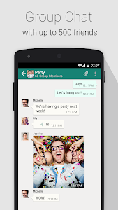 screenshot of SOMA Messenger version 1.0.7