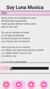screenshot of SOY LUNA MUSIC version 2.0