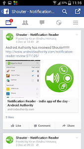 screenshot of Notification Reader: Shouter version Varies with device