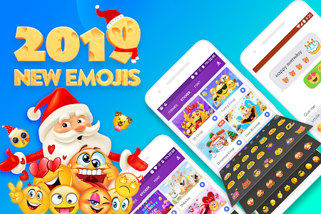 screenshot of Smiley Emoji Keyboard - GIF, Emoji, Keyboard Theme version 1.2.4